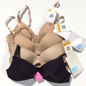 lot of 4 Maidenform Bras 34A Padded No Wire 7948